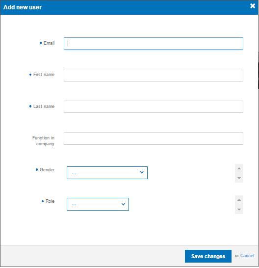 Formular za dodavanje korisnika