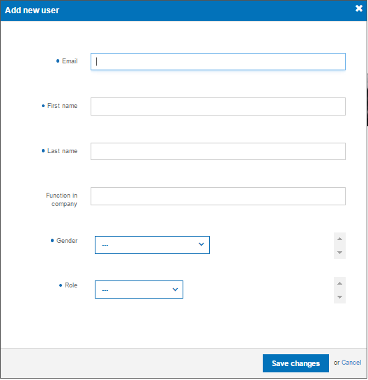 Adding user form