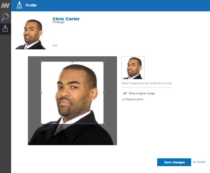 Cropping profile image
